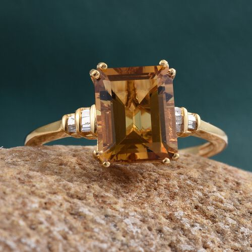 Marialite (Oct), Diamond Ring in 14K Gold Overlay Sterling Silver 3.000 Ct.