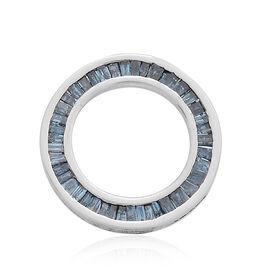 9K W Gold Blue Diamond (Bgt) Circle of Life Pendant 0.500 Ct.