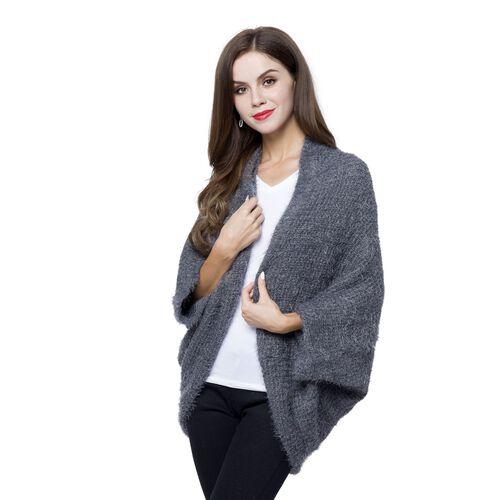 New Season - Italian Designer Inspired Grey Colour Kimono (Size 108x48 Cm)