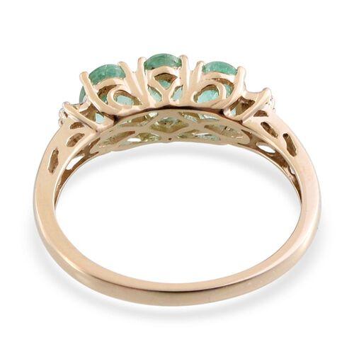 9K Y Gold Boyaca Colombian Emerald (Ovl), Diamond Ring 1.300 Ct.