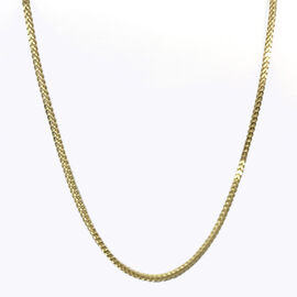 Vicenza Collection 9K Yellow Gold Franco Necklace (Size 18), Gold wt 3.70 Gms.
