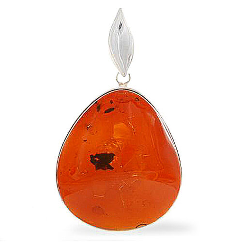 Baltic Amber Pendant in Sterling Silver TW 13.98grms