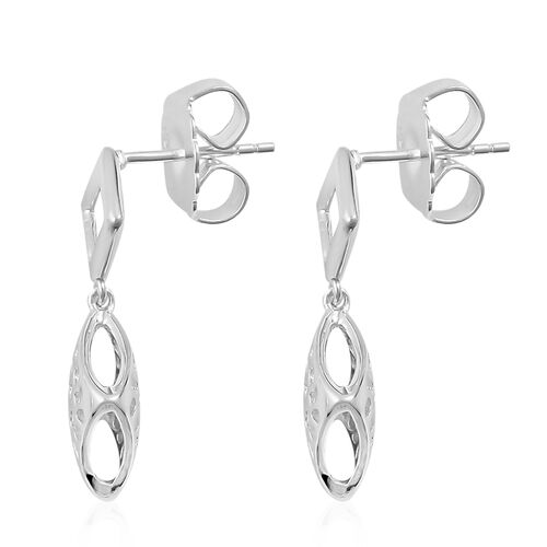 RACHEL GALLEY Sterling Silver Memento Diamond Stud Earrings (with Push Back), Silver wt 4.01 Gms.