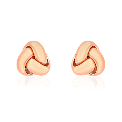 Close Out Deal 9K R Gold Triple Knot Stud Earrings (with Push Back)