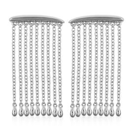 LucyQ Rain Earrings (with Push Back) in Rhodium Plated Sterling Silver 6.80 Gms.