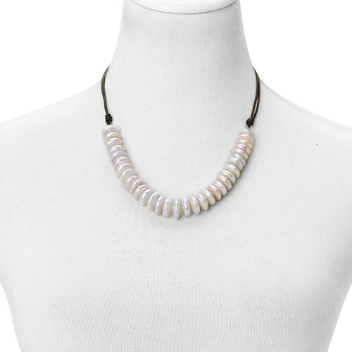 Fresh Water White Coin Pearl Necklace (Size 20)
