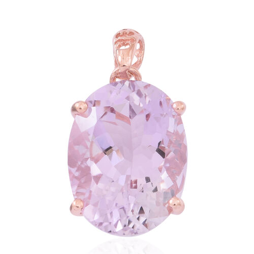 AAA Rose De France Amethyst (Ovl) Pendant in Rose Gold Overlay Sterling Silver 17.250 Ct.