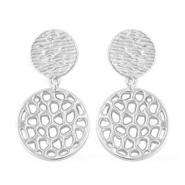 RACHEL GALLEY Rhodium Plated Sterling Silver Ocean Drop Earrings (with Push Back), Silver wt. 6.49 Gms.