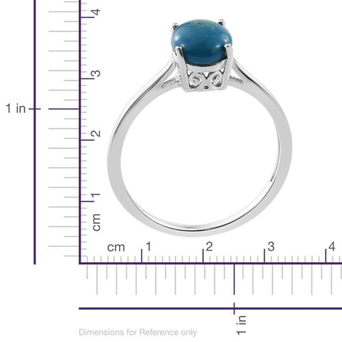 Natural Rare Opalina (Ovl) Solitaire Ring in Platinum Overlay Sterling Silver 1.500 Ct.