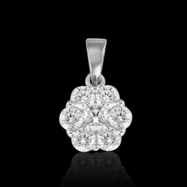 RHAPSODY 950 Platinum IGI Certified Diamond (Rnd) (VS/E-F) 7 Stone Flower Pendant 1.000 Ct.