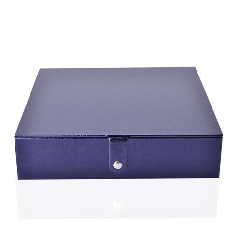 Dark Blue Colour Jewellery Box (Size 23x23x6 Cm)
