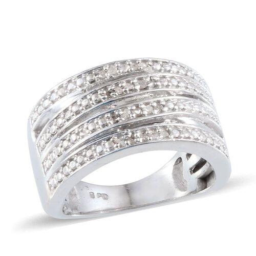 Diamond (Rnd) Ring in Platinum Bond 0.080 Ct.