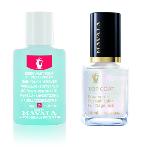 MAVALA- Star Top Coat 14ml Pink with Free 50ml Blue Nail Polish Remover- dispached within 3-5 working days