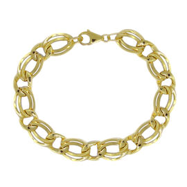 Surabaya Gold Collection 9K Yellow Gold Double Curb Bracelet (Size 8), Gold wt 7.39 Gms.