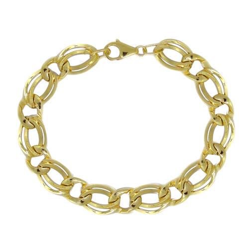 Royal Bali Collection 9K Y Gold Double Curb Bracelet (Size 8), Gold wt 7.89 Gms.