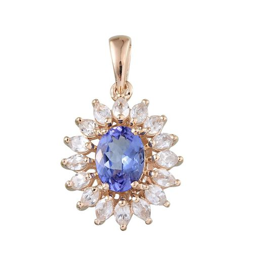 9K Y Gold Tanzanite (Ovl 1.00 Ct), Natural Cambodian Zircon Pendant 2.150 Ct.