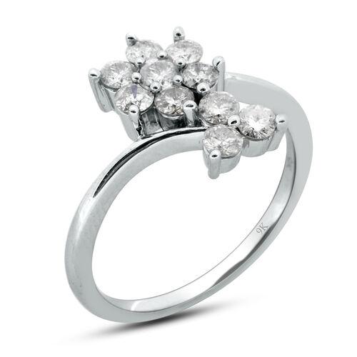 9K W Gold GSI Certified Diamond (Rnd) (I3 /G-H) Ring 1.000 Ct.