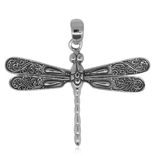 Designer Inspired- Sterling Silver Dragonfly Pendant