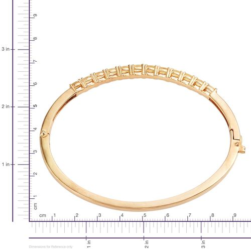 Marialite (Ovl) Bangle (Size 7.5) in 14K Gold Overlay Sterling Silver 2.500 Ct. Silver wt 12.25 Gms.