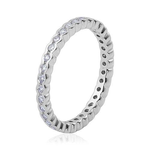 RHAPSODY 950 Platinum 0.50 Carat Diamond Full Eternity Band Ring IGI Certified VS / F.