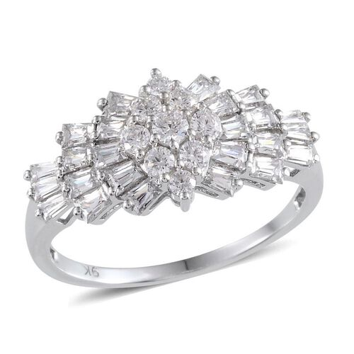 9K W Gold (Rnd) Ring Made With SWAROVSKI ZIRCONIA 1.736 Ct.