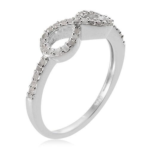 Infinity Platinum: Diamond (Rnd) Infinity Ring In Platinum Overlay Sterling