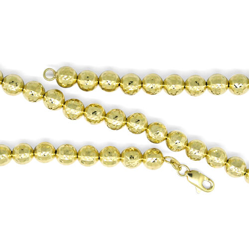 Designer Inspired-9K Yellow Gold Diamond Cut Necklace (Size 18), Gold wt 16.25 Gms.