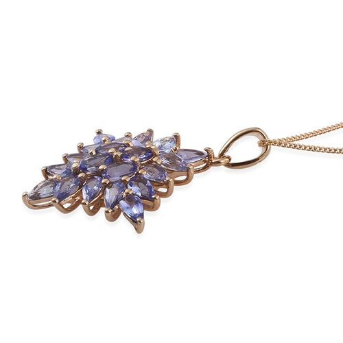 Tanzanite (Ovl) Pendant With Chain in 14K Gold Overlay Sterling Silver 4.000 Ct.