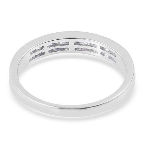 RHAPSODY 950 Platinum (5.45 Grms) IGI Certified Diamond (Rnd) (VS/E-F) Half Eternity Band Ring 0.500 Ct.