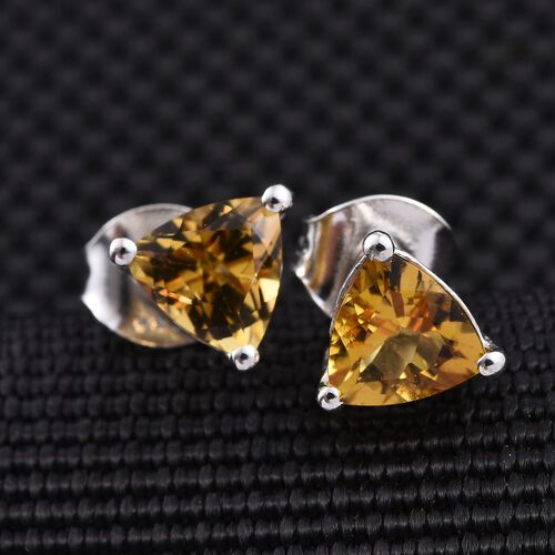 Marialite (Trl) Stud Earrings (with Push Back) in Platinum Overlay Sterling Silver 1.250 Ct.