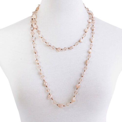 Shell Pearl and Champagne Glass Necklace (Size 50)