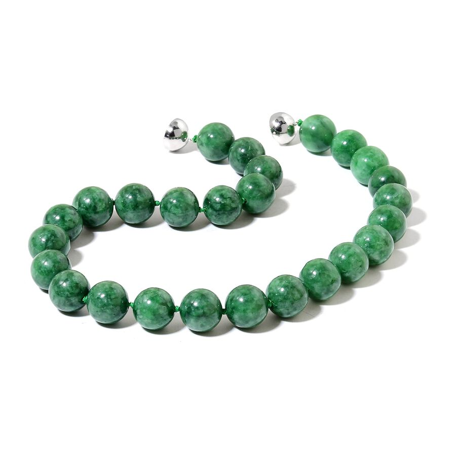 bead graduating natural necklace jade burma jadeite green