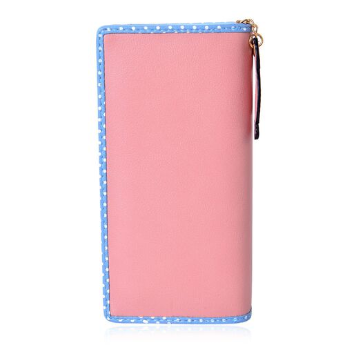 Cat Charm Pink and Blue Colour Wallet (Size 19x9x3 Cm)