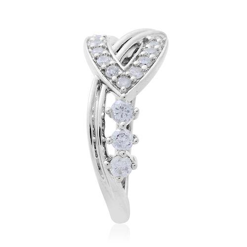 9K White Gold 0.50 Carat Diamond Ring SGL Certified I3 G-H