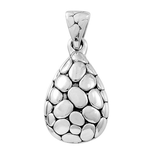 Thai Sterling Silver Pebble Teardrop Pendant, Silver wt. 5.76 Gms