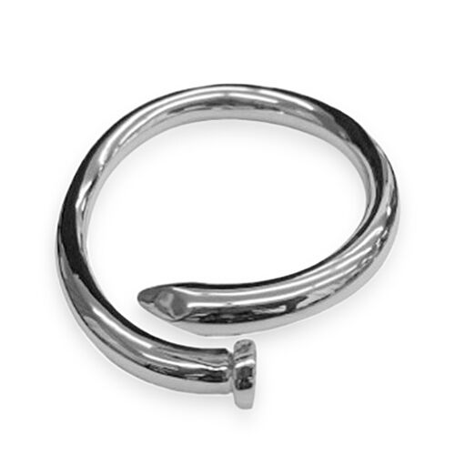 Statement Collection Sterling Silver Nail Bangle (Size 7.5), Silver wt 21.1 Gms.