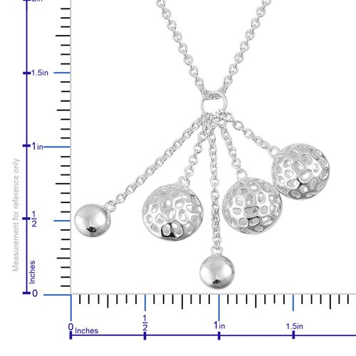 RACHEL GALLEY Sterling Silver Globe Cluster Necklace (Size 20), Silver wt 10.50 Gms.