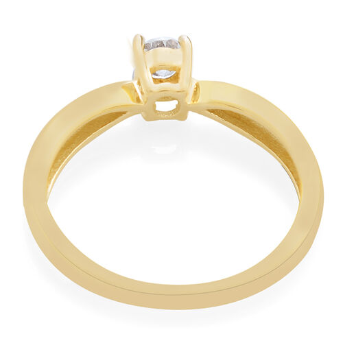9K Yellow Gold 0.25 Carat SGL Cerfified Diamond I3/G-H Solitaire Ring