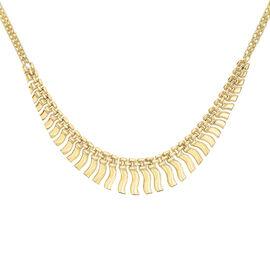 JCK Vegas Collection 9K Y Gold Anthony Bismark Necklace (Size 17), Gold wt. 10.80 Gms.