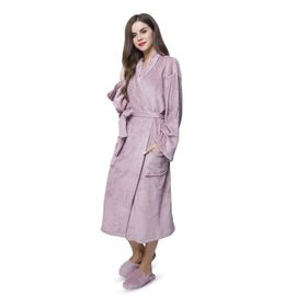 Pink Colour Bath Robe (Free Size) and Slippers