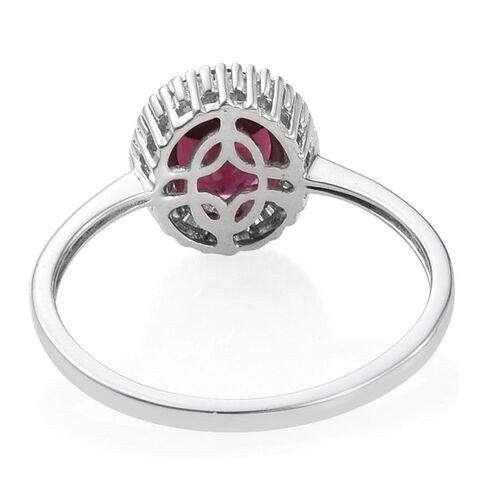 9K W Gold Rare Mozambique Grape Colour Garnet (Ovl 2.50 Ct), Diamond Ring 2.750 Ct.