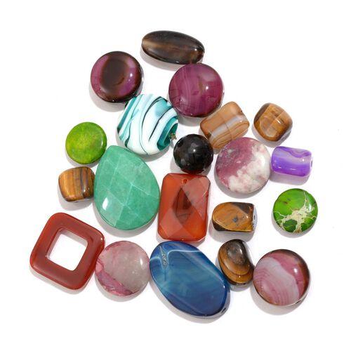 Pre Drilled Gemstones Kit Includes (Tanzanite, Apatite, Aquamarine, Amethyst, Citrine and other gemstones) 2280.250 Ct.