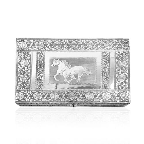 Handcrafted Horse Embossed 150 Slots Ring Box (Size 37X25X5 Cm)