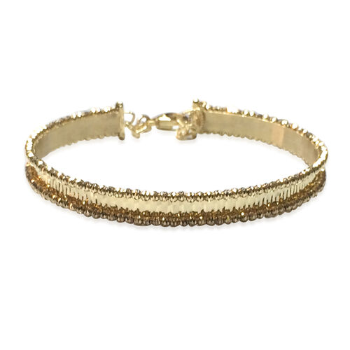 Limited Available- Designer Inspired- 9K Y Gold Cuff Bangle (Size 7 to 8), Gold wt 7.57 Gms.