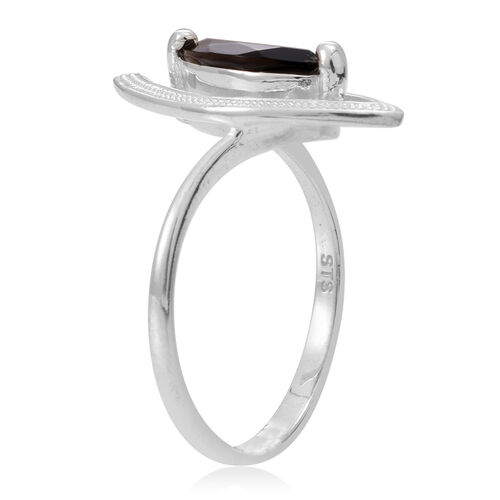 Brazilian Smoky Quartz (Mrq) Solitaire Ring in Sterling Silver 1.500 Ct.