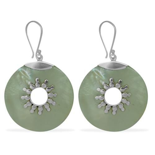 Bali Collection Mother of Pearl (23.10 Ct) Sterling Silver Earring  23.100  Ct.