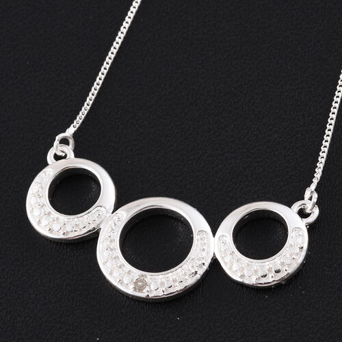 Diamond (Rnd) Necklace (Size 18) in Sterling Silver