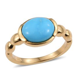 SLEEPING BEAUTY TURQUOISE (2.00 Ct) 14K Gold Overlay Sterling Silver Ring  2.000  Ct.