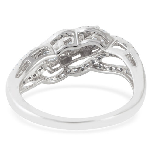 New Close Out Deal 9K W Gold Diamond (Rnd) (I1-I2 and G-H) Ring 0.580 Ct.