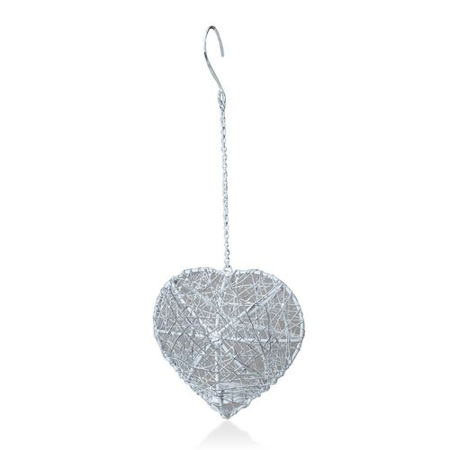 Home Decor - Heart Shape Hanging Tea Light Holder Made with Wire